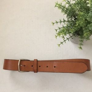 COACH saddle brown cowhide leather belt